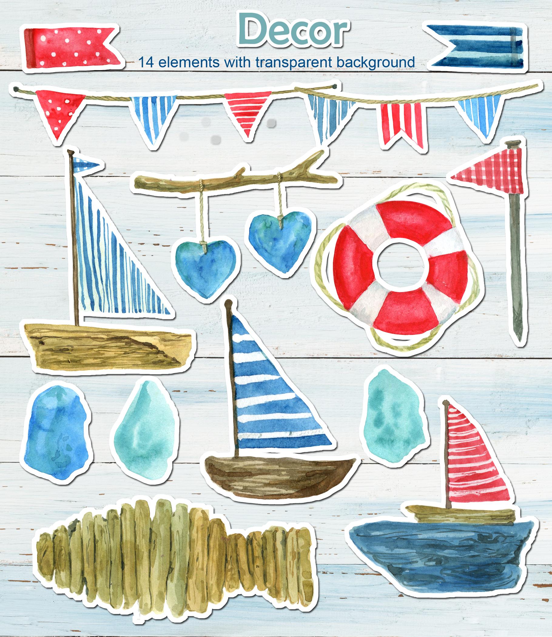 Sea dreams. Watercolor illustration example image 7