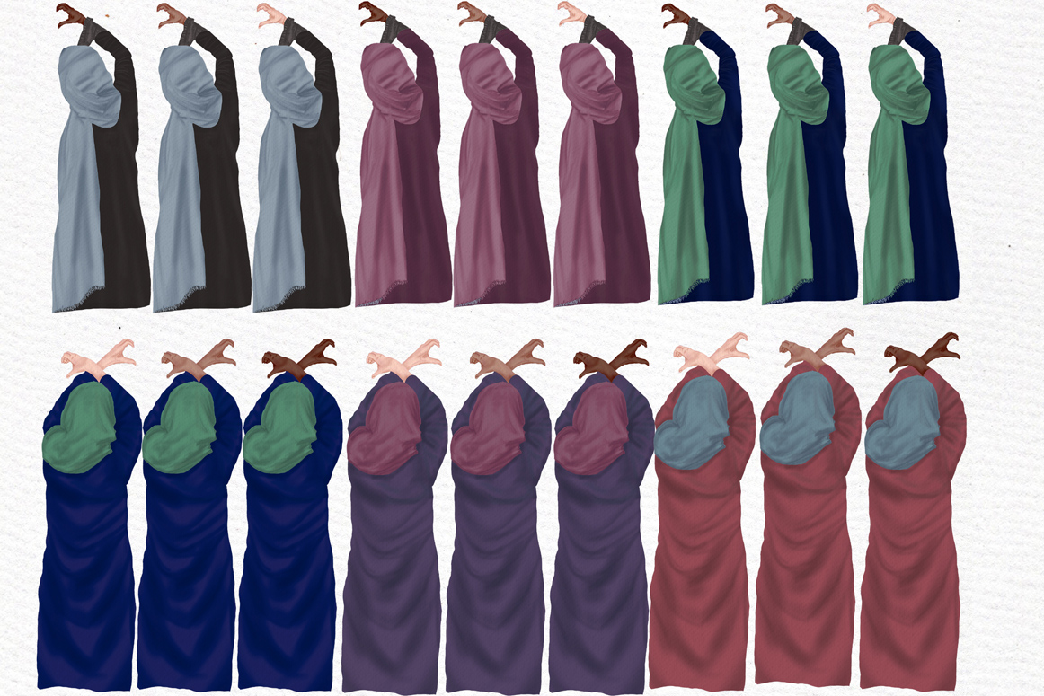 Muslim women clipart, Muslim Girls, Hijab clipart, Besties example image 6