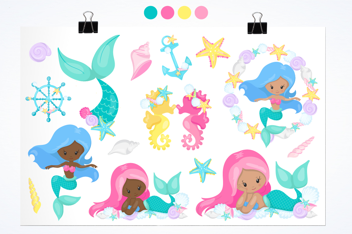 Mermaid at Heart graphic and illustrations example image 2