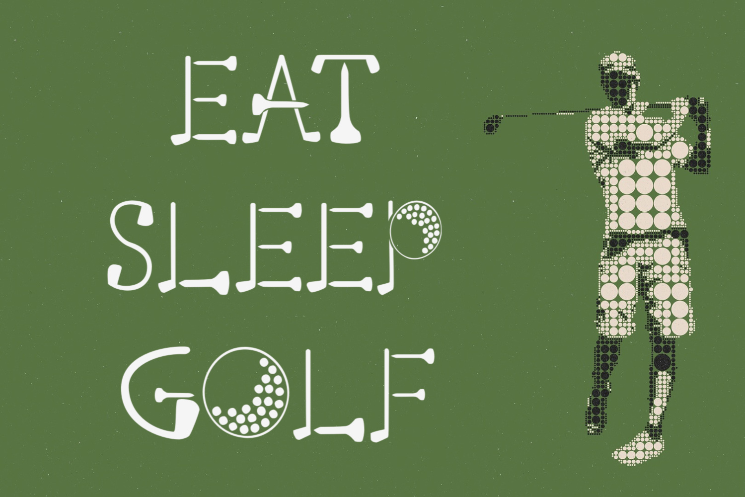 Putting Green - A Quirky Font for Golfers example image 3
