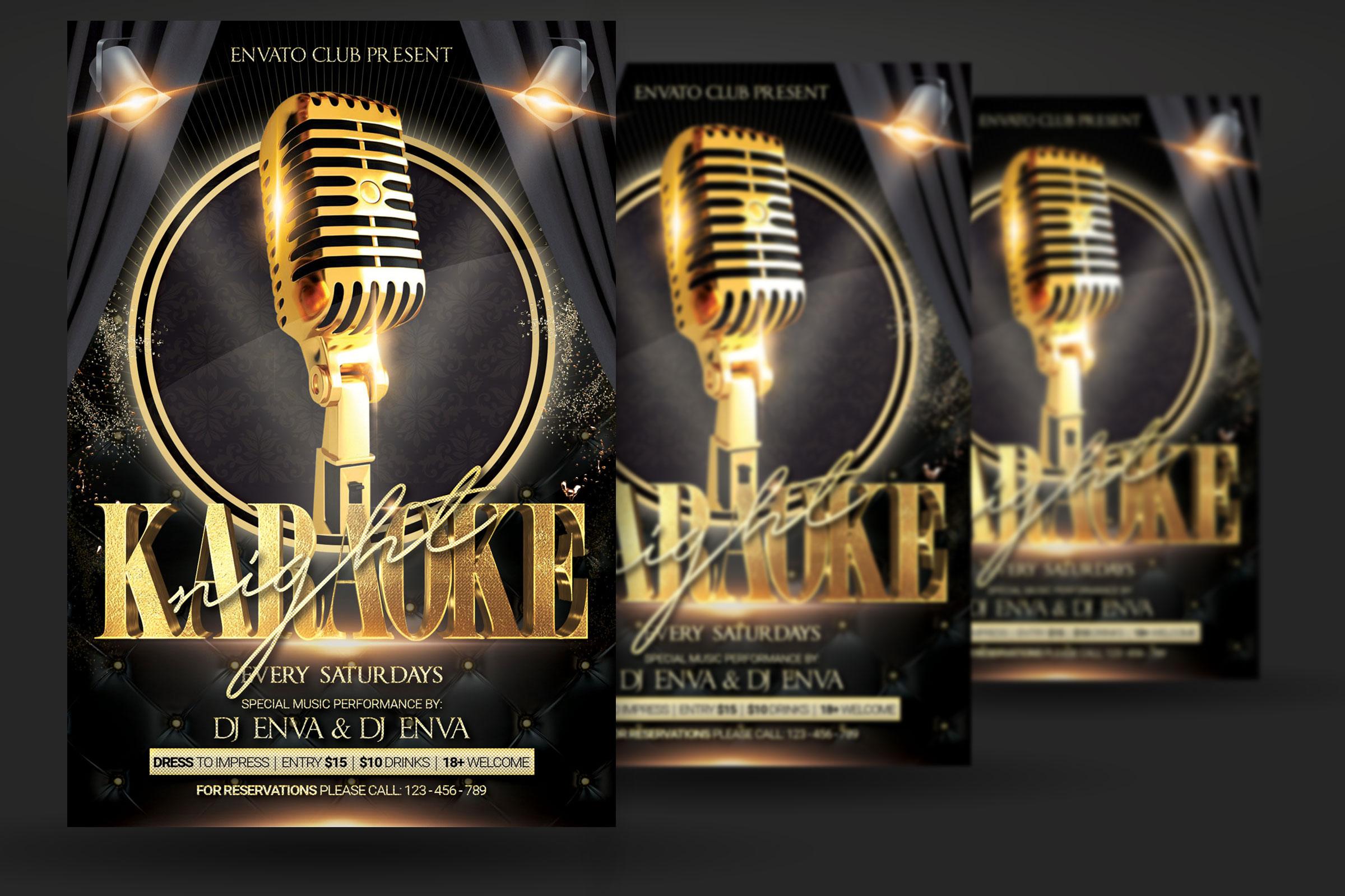 Karaoke Night Party Flyer example image 2