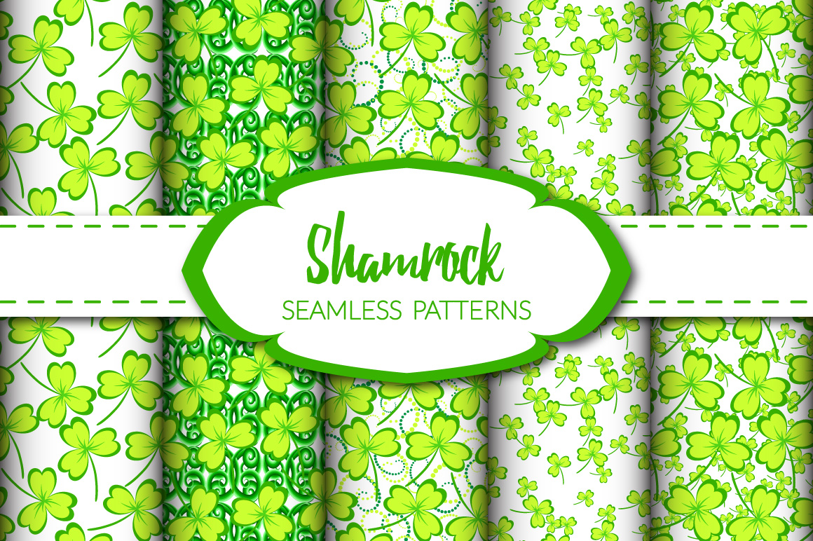 Shamrock - Seamless Patterns example image 1