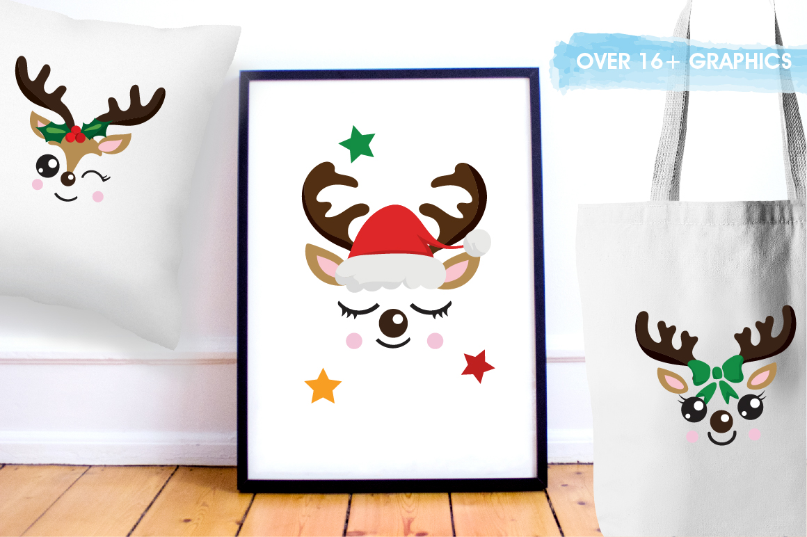 Reindeer icons graphics and illustrations example image 5