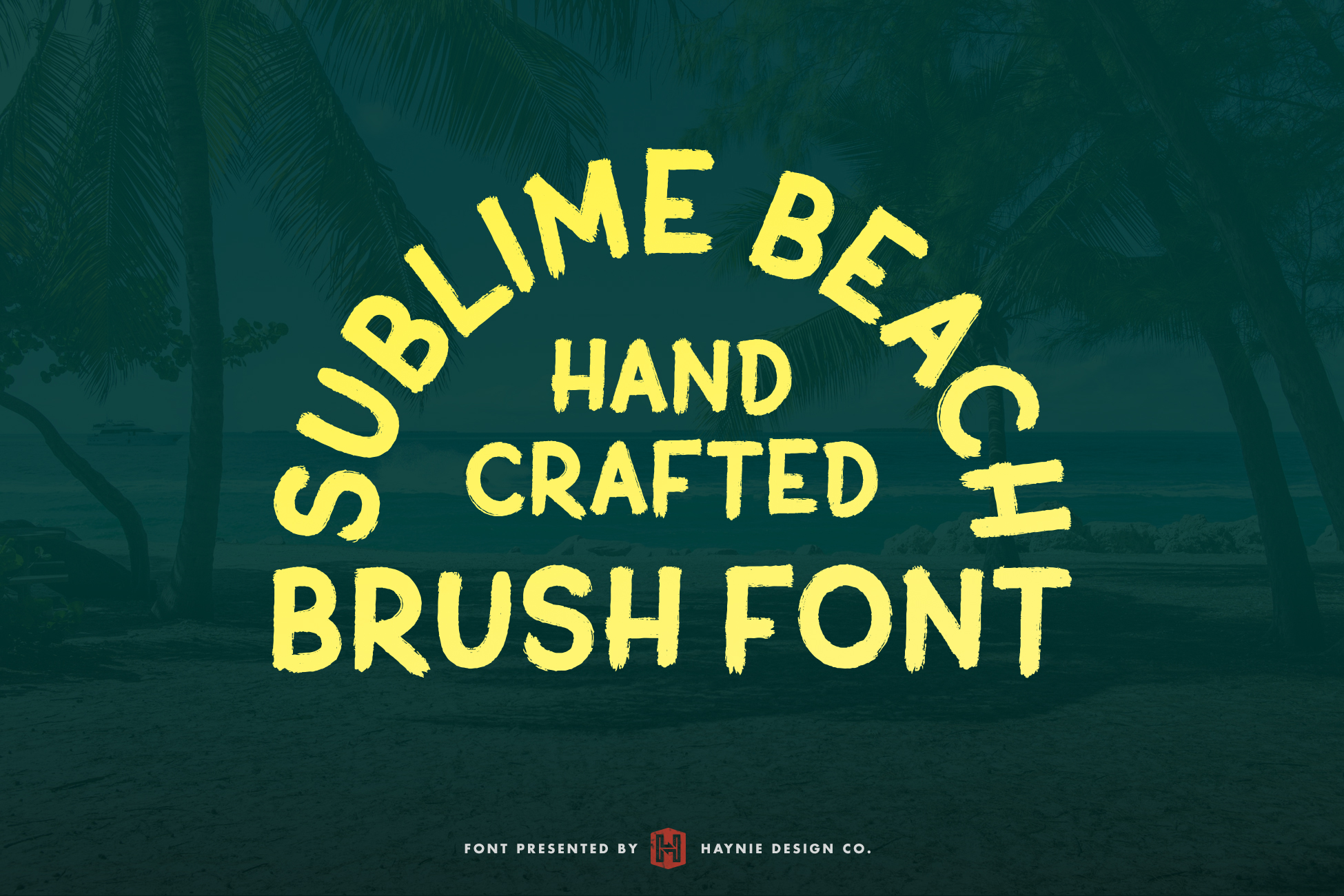 Sublime Beach Brush Font example image 2