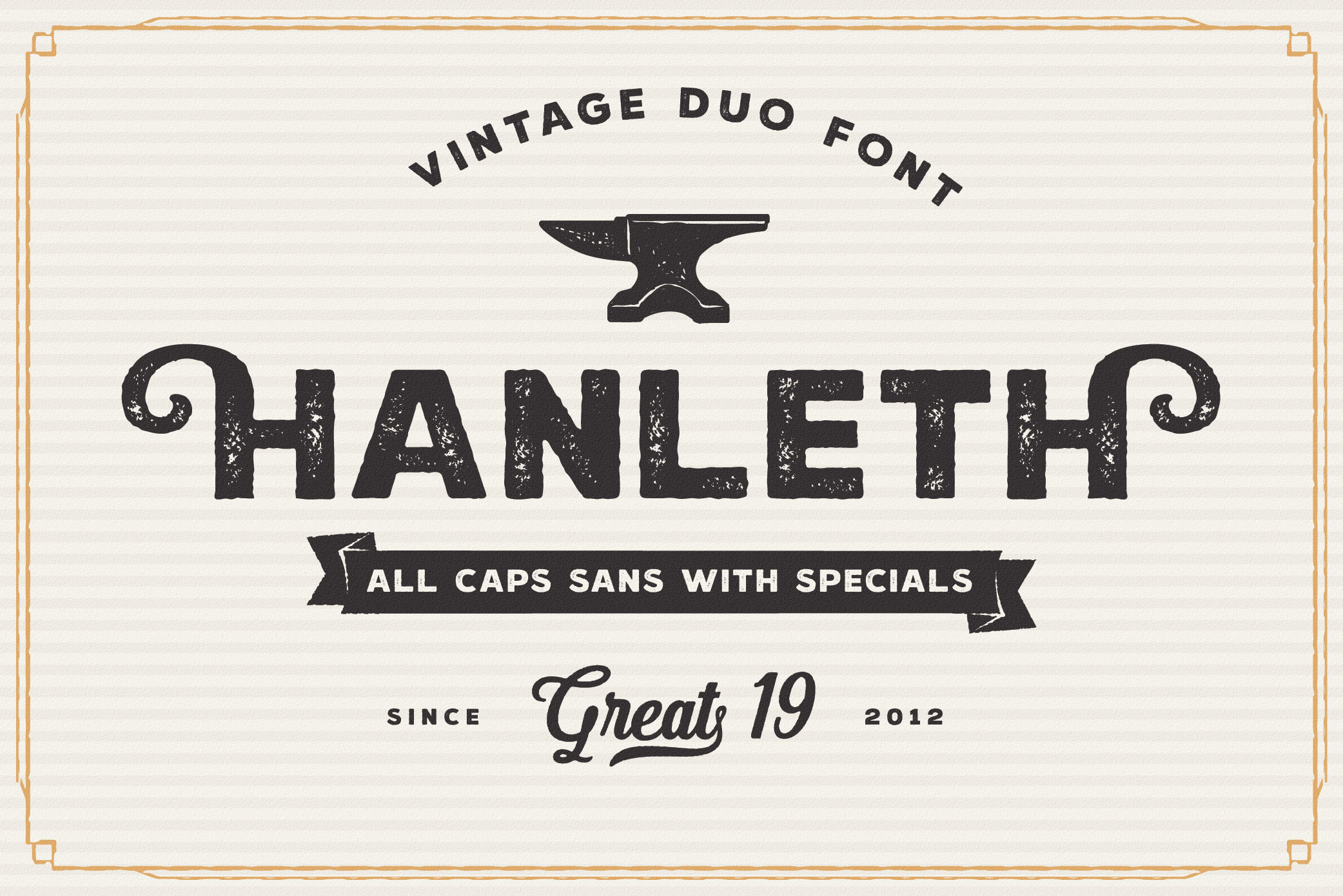 Hanleth Vintage Font Family example image 6