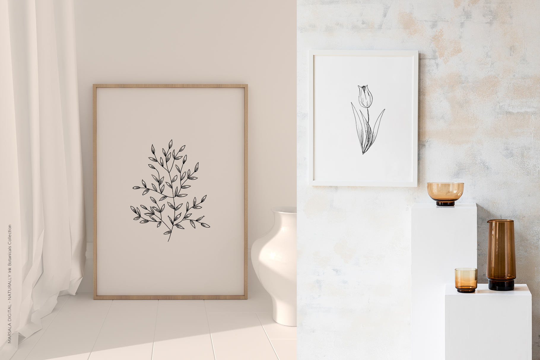 Ink Botanicals Vintage Wildflowers Ink Botanicals Vintage example image 9