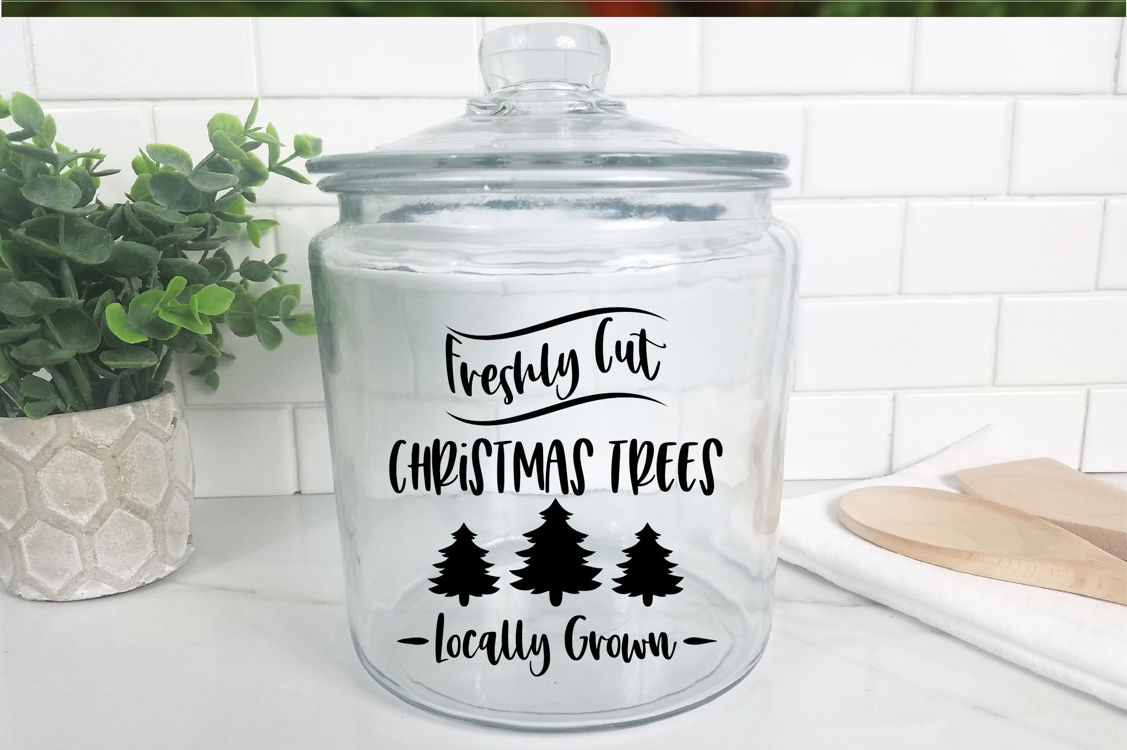 Christmas SVG Cut File - Freshly Cut Christmas Trees SVG DXF example image 9