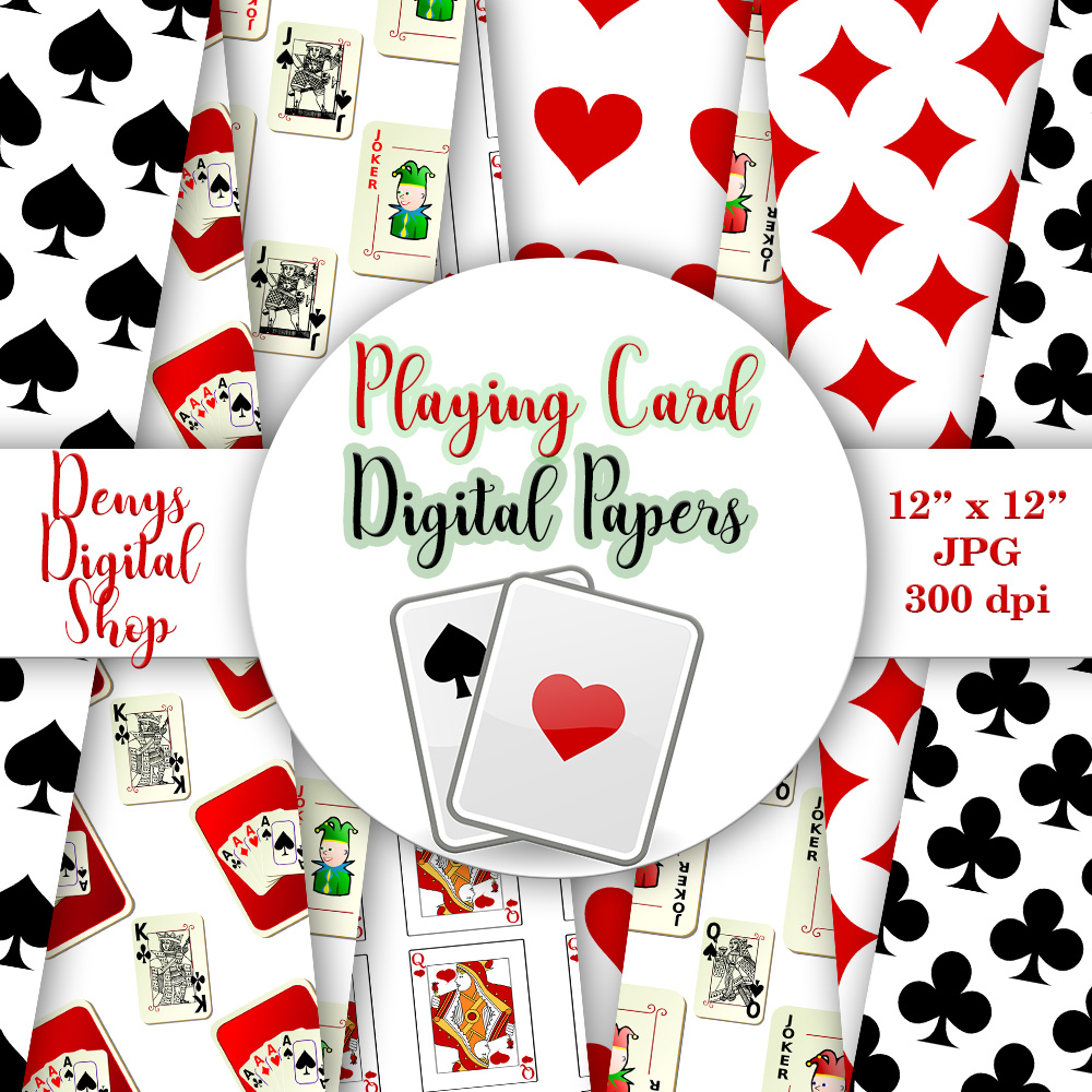Playing Card Suits,Digital Wall,Playing Cards Pattern,50OFF example image 3