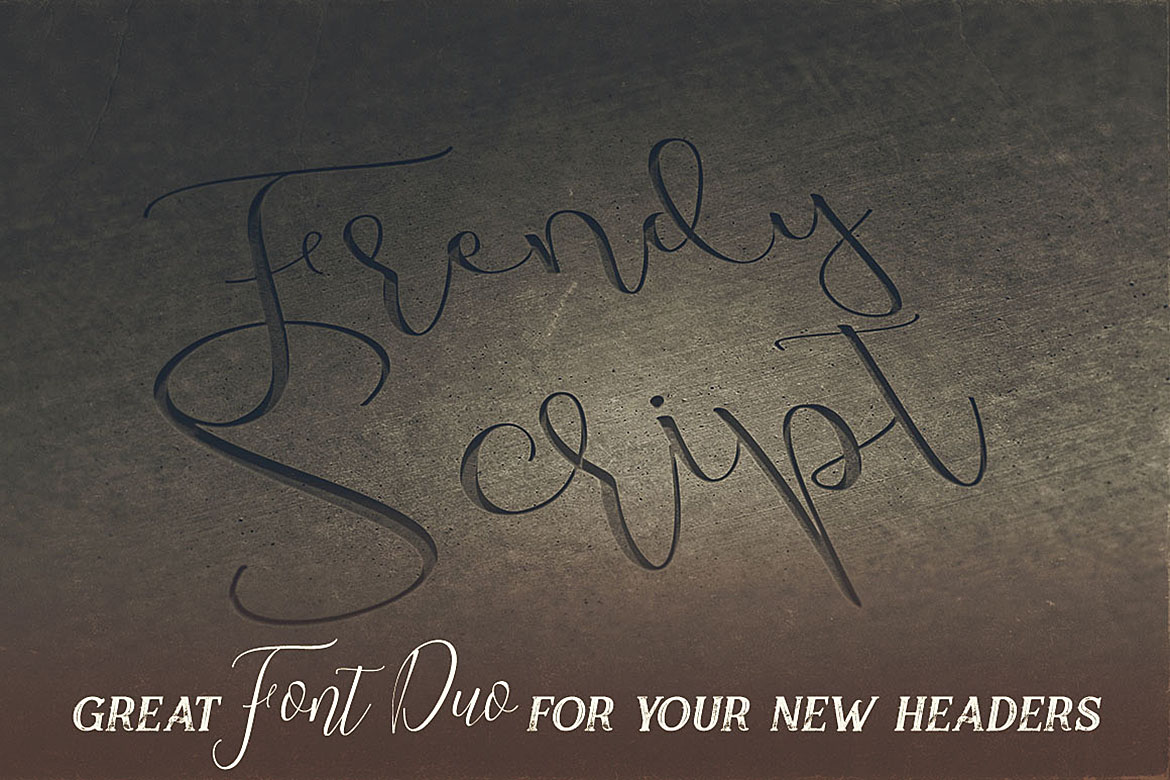 Trendy Script Font Duo example image 4