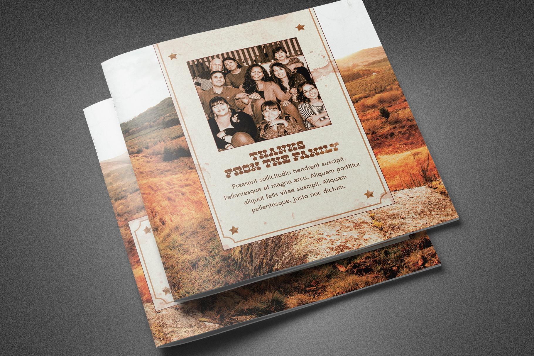 Rocky Mountain Funeral Program example image 2