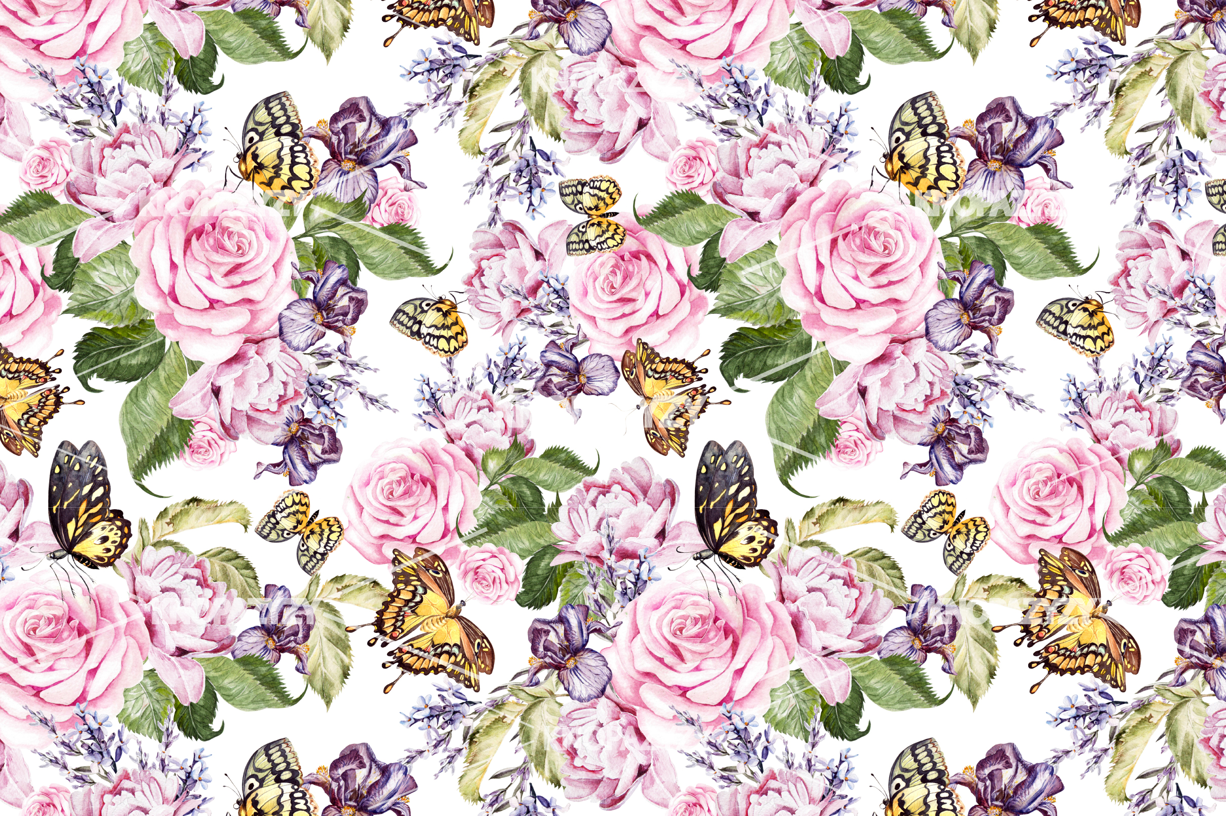 14 Hand drawn watercolor patterns example image 7