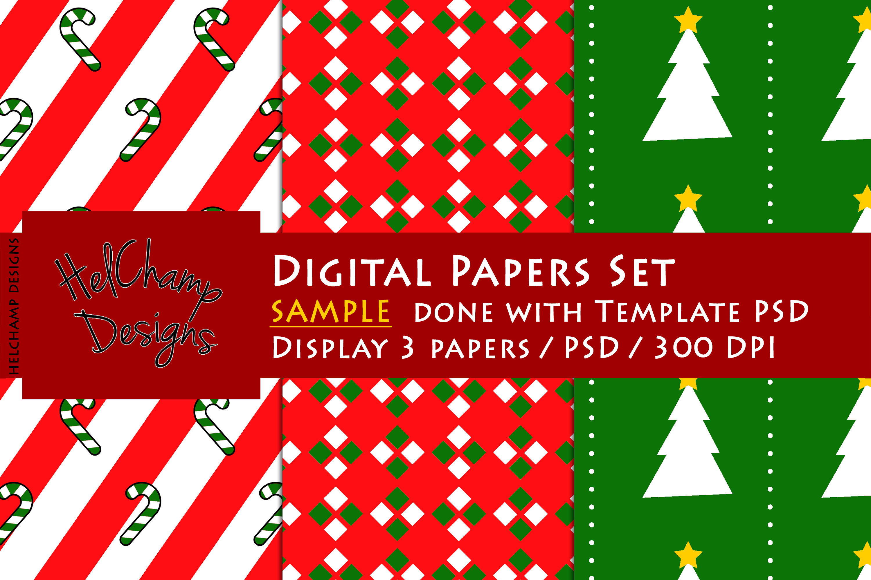 3 Panels Mockup for Digital Papers - M00 example image 5