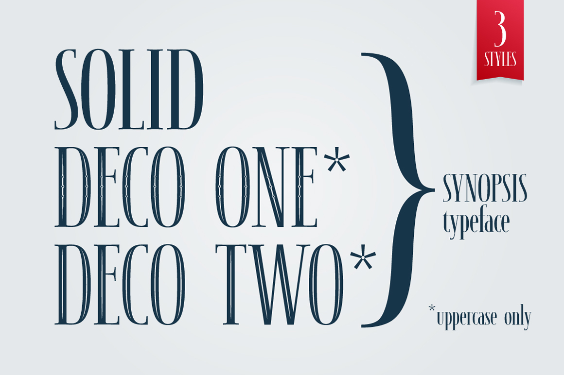 SYNOPSIS typeface example image 2