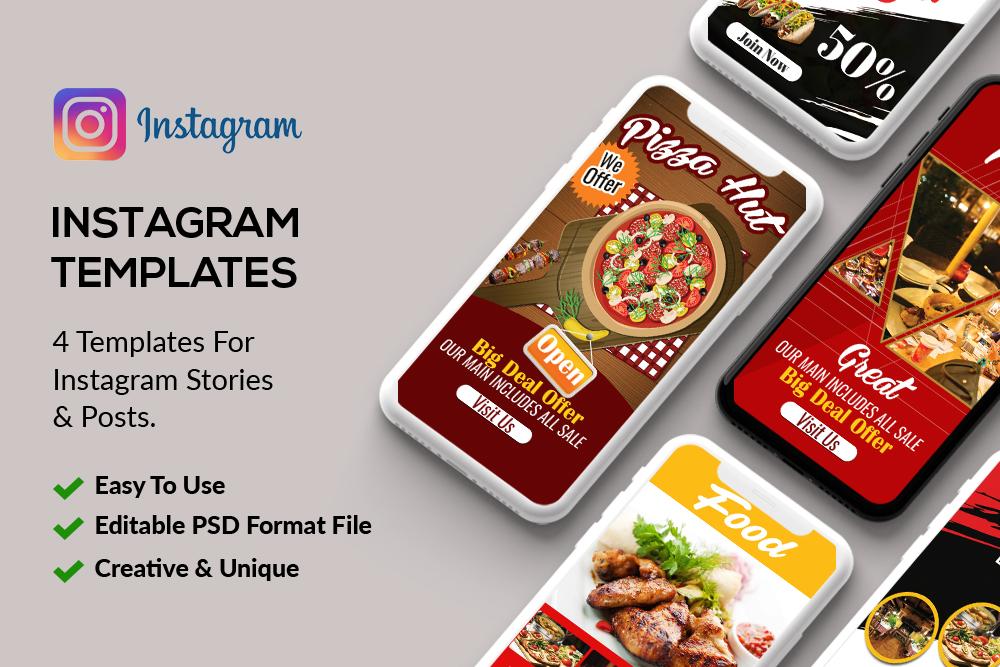 4 Instagram Stories - Food & Restaurant example image 1