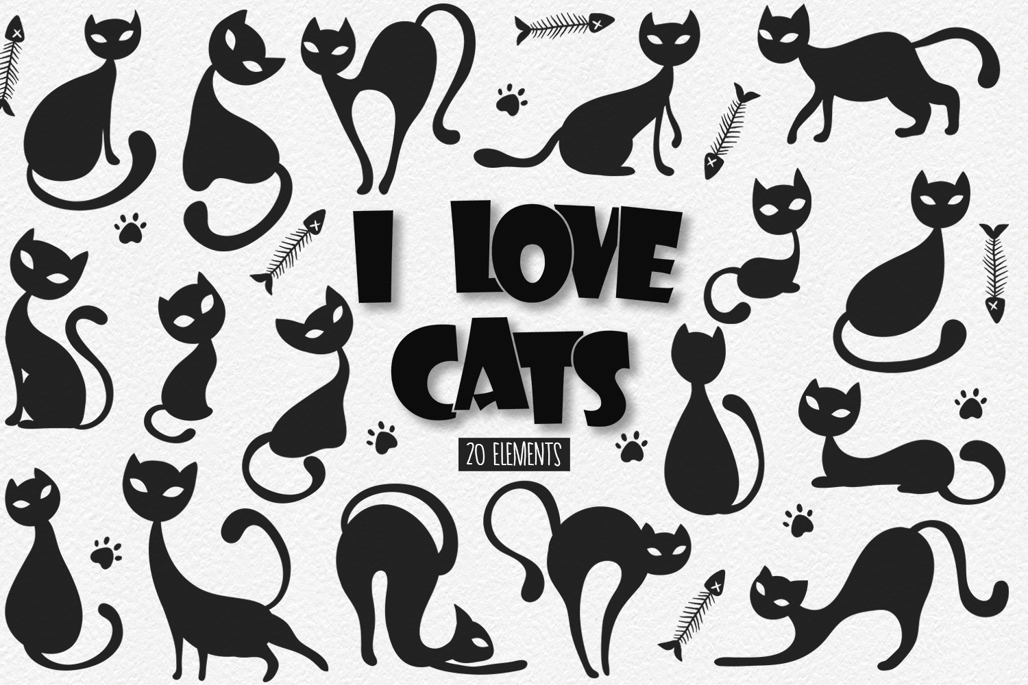 Cat Silhouettes example image 1