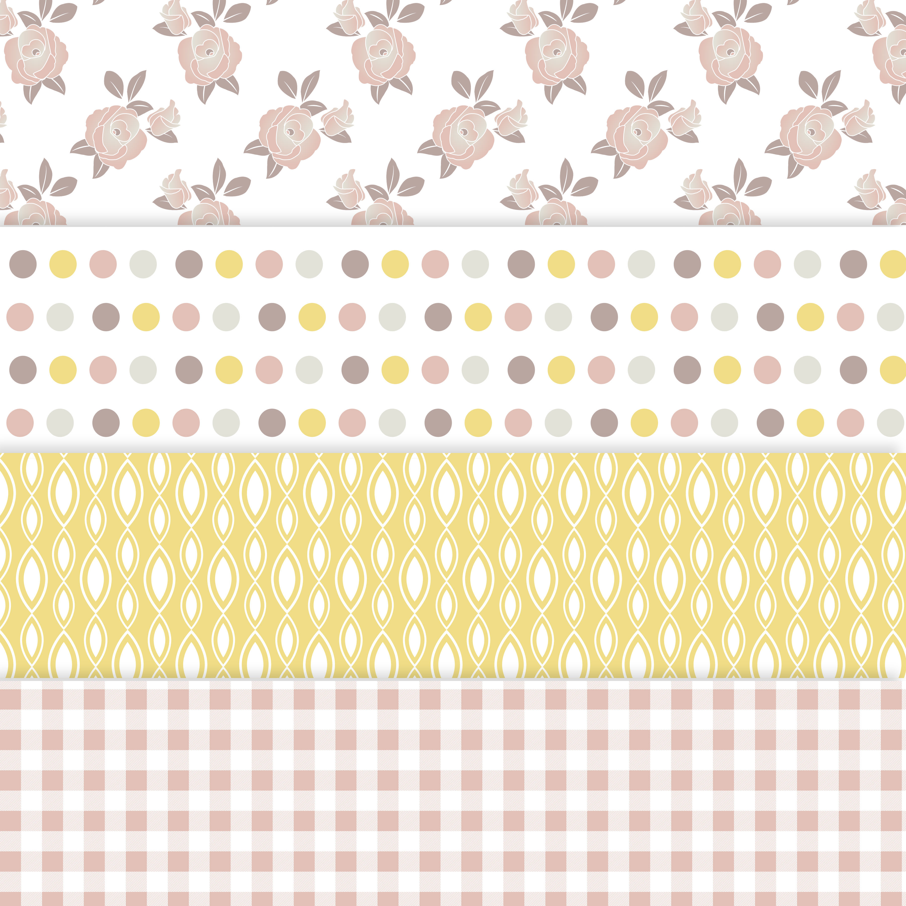 Floral Shabby Chic Digital Paper example image 2