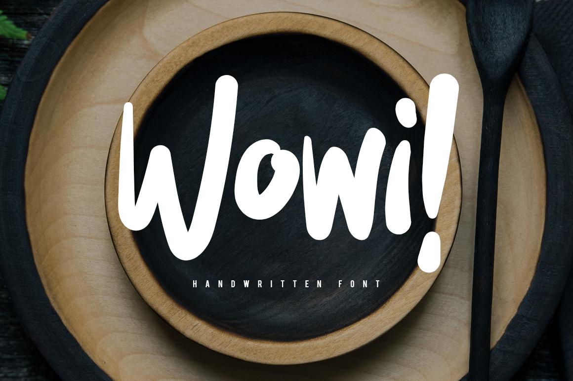 Wowi Brush Font example image 1