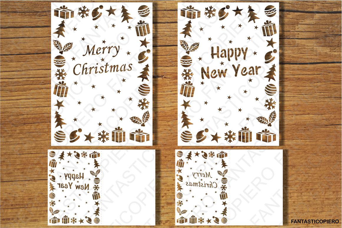 Merry Christmas, Happy New Year SVG files. example image 1