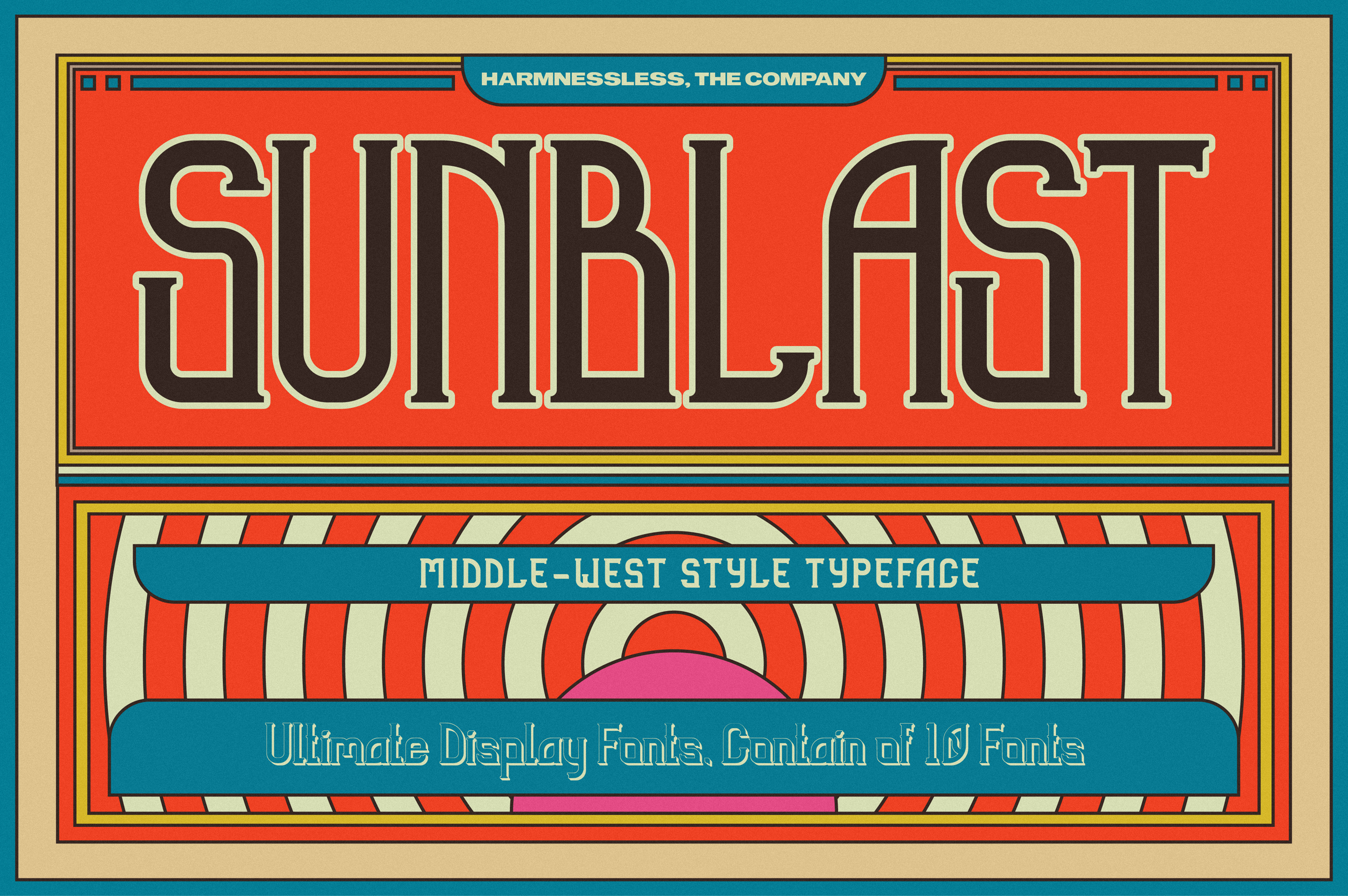 Sunblast Display Typeface example image 1
