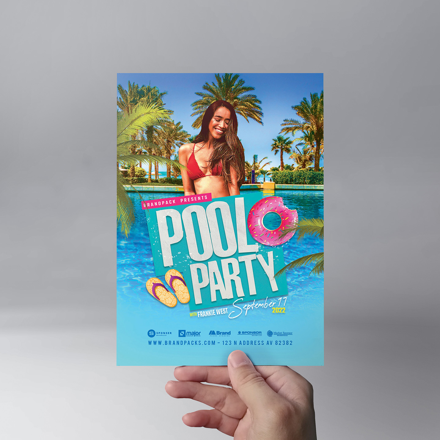 Pool Party Flyer Template example image 5