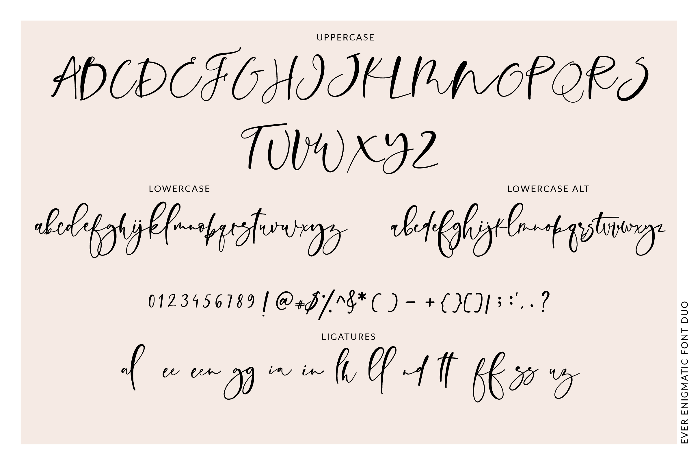Ever Enigmatic Font Duo example image 4