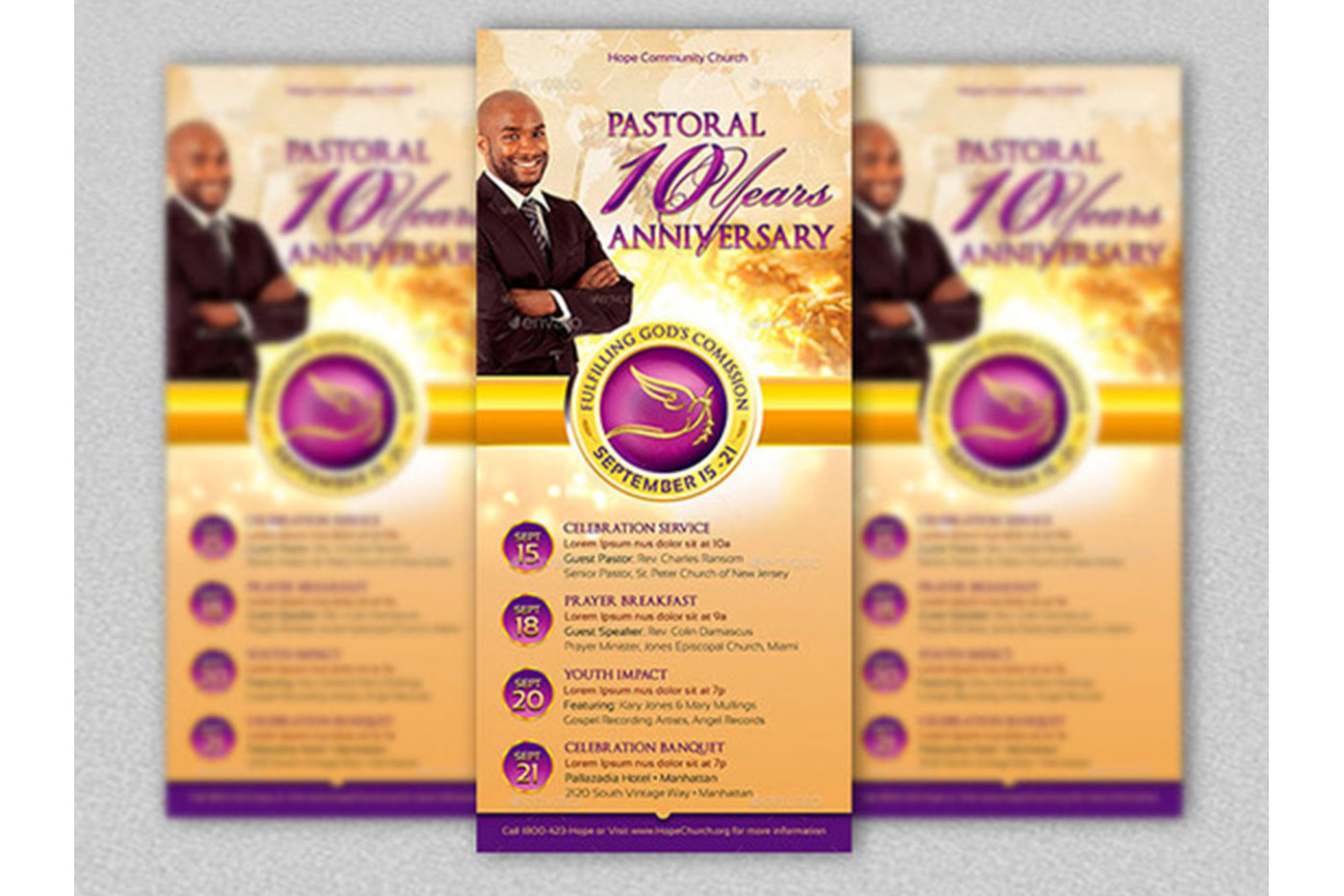 Clergy Anniversary Template Bundle example image 3