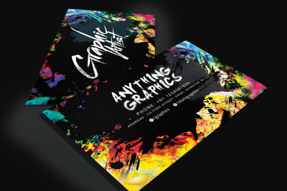 Artistic Business Card for Designers example image 2