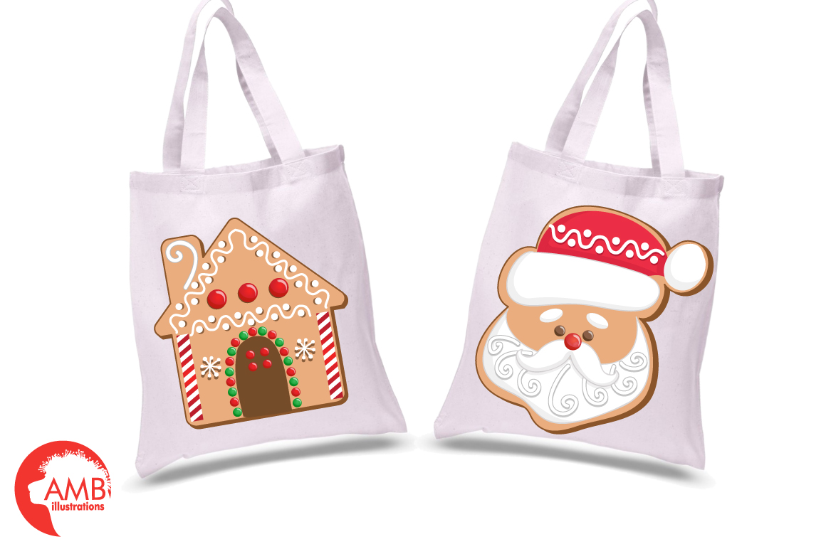 Christmas Cookie Clipart, GRAPHICS, ILLUSTRATIONS AMB-1539 example image 2
