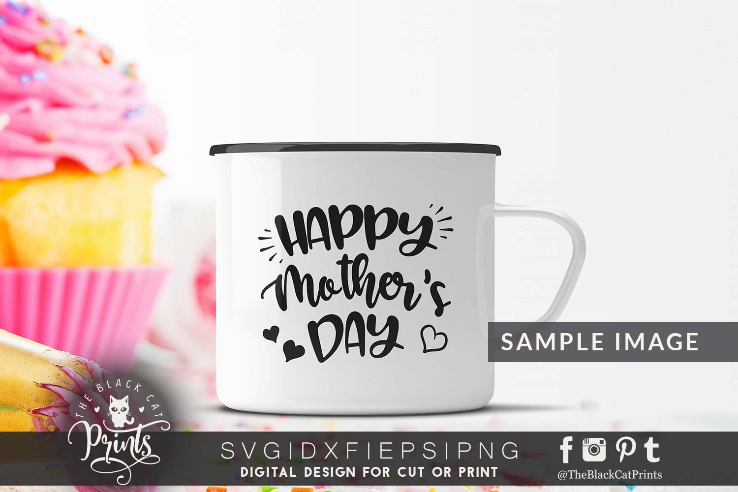 Happy mother's day SVG PNG EPS DXF, Mother svg cutting file example image 3