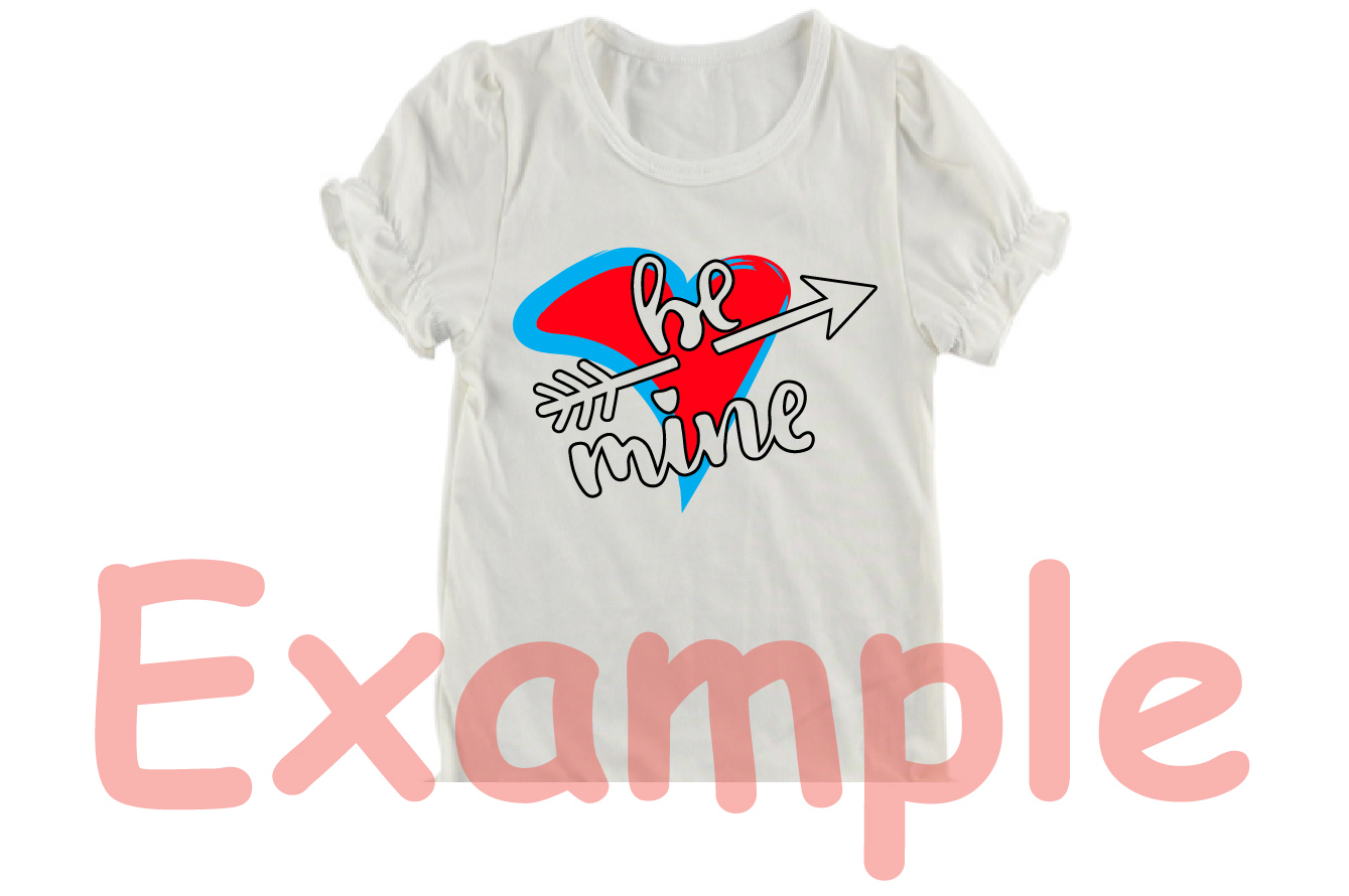 Be mine SVG love heart Valentines Day Arrow -70sv example image 5