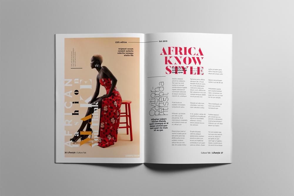 Fashion Magazine Layout Template example image 19