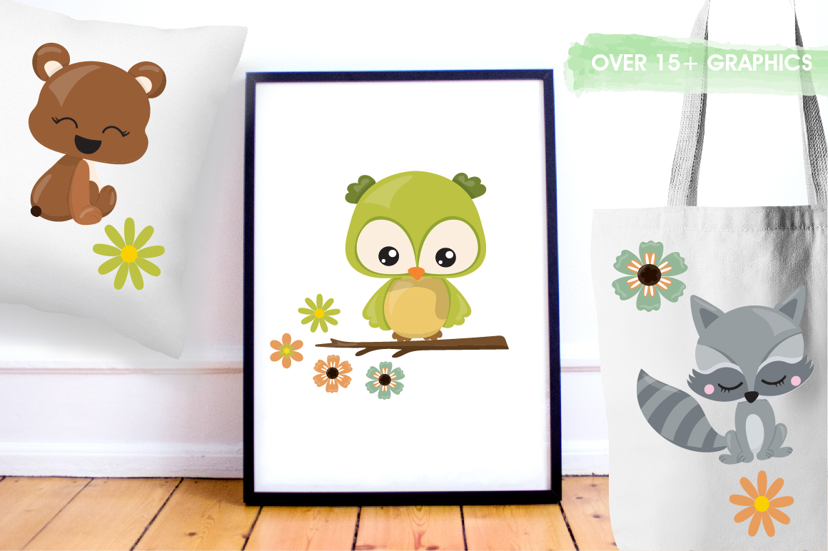 Woodland friends graphics and illustrations example image 5