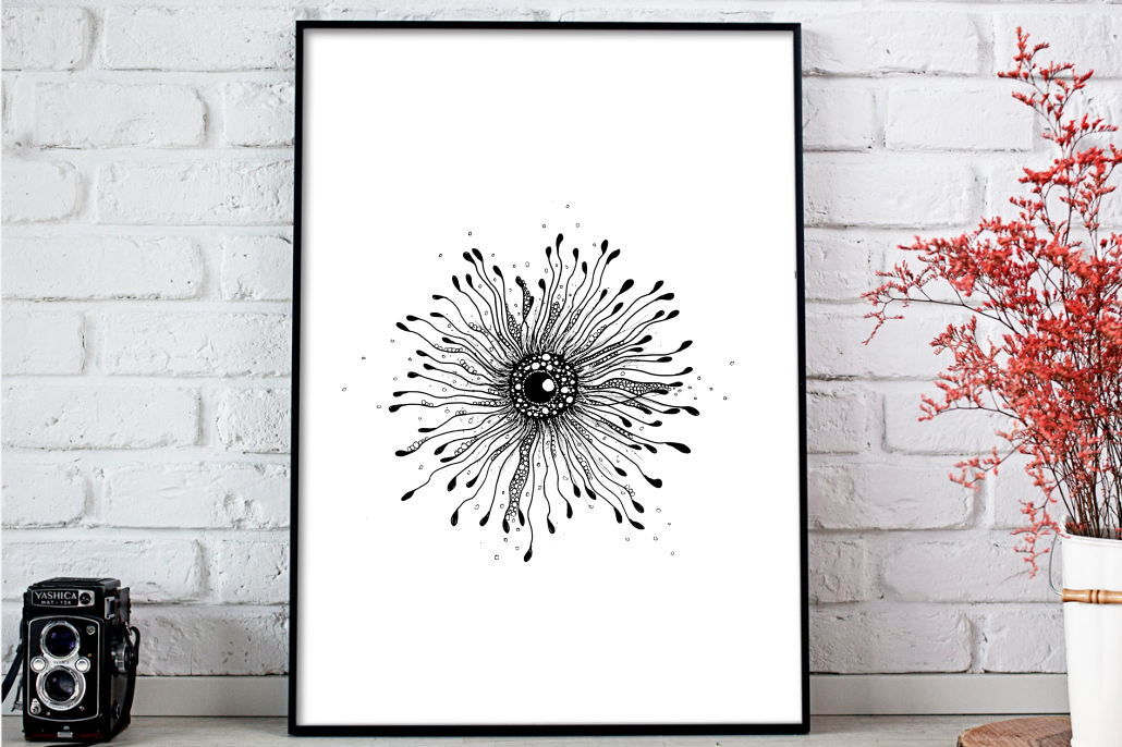 Enigma Ink Art, A1, SVG example image 2