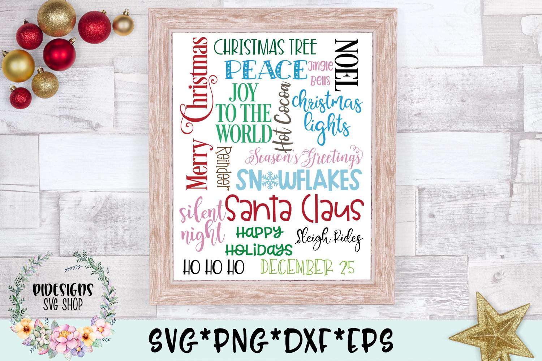Christmas Subway Word Art SVG Cut File example image 2