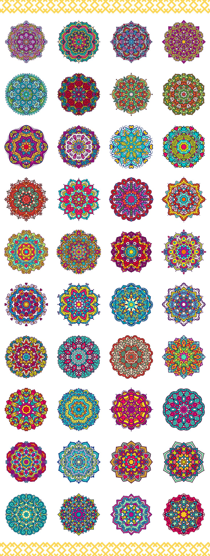 80 Vector Mandalas Vintage Ornament example image 3
