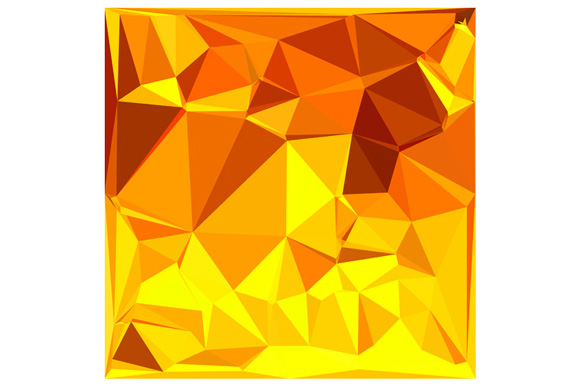 Gold Yellow Banana Abstract Low Polygon Background example image 1