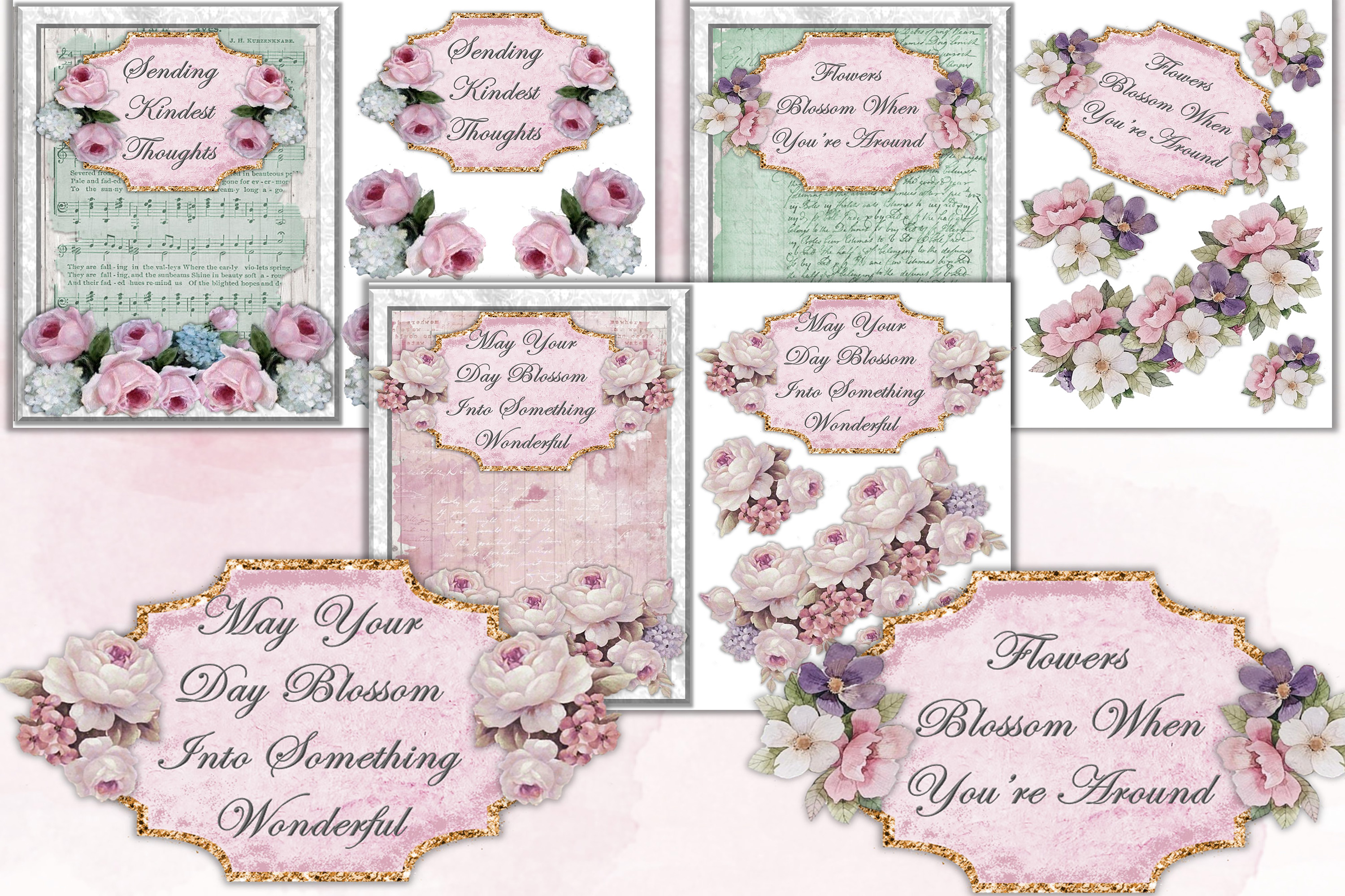 Mega Scrapbooking Kit with free backgrounds example image 10