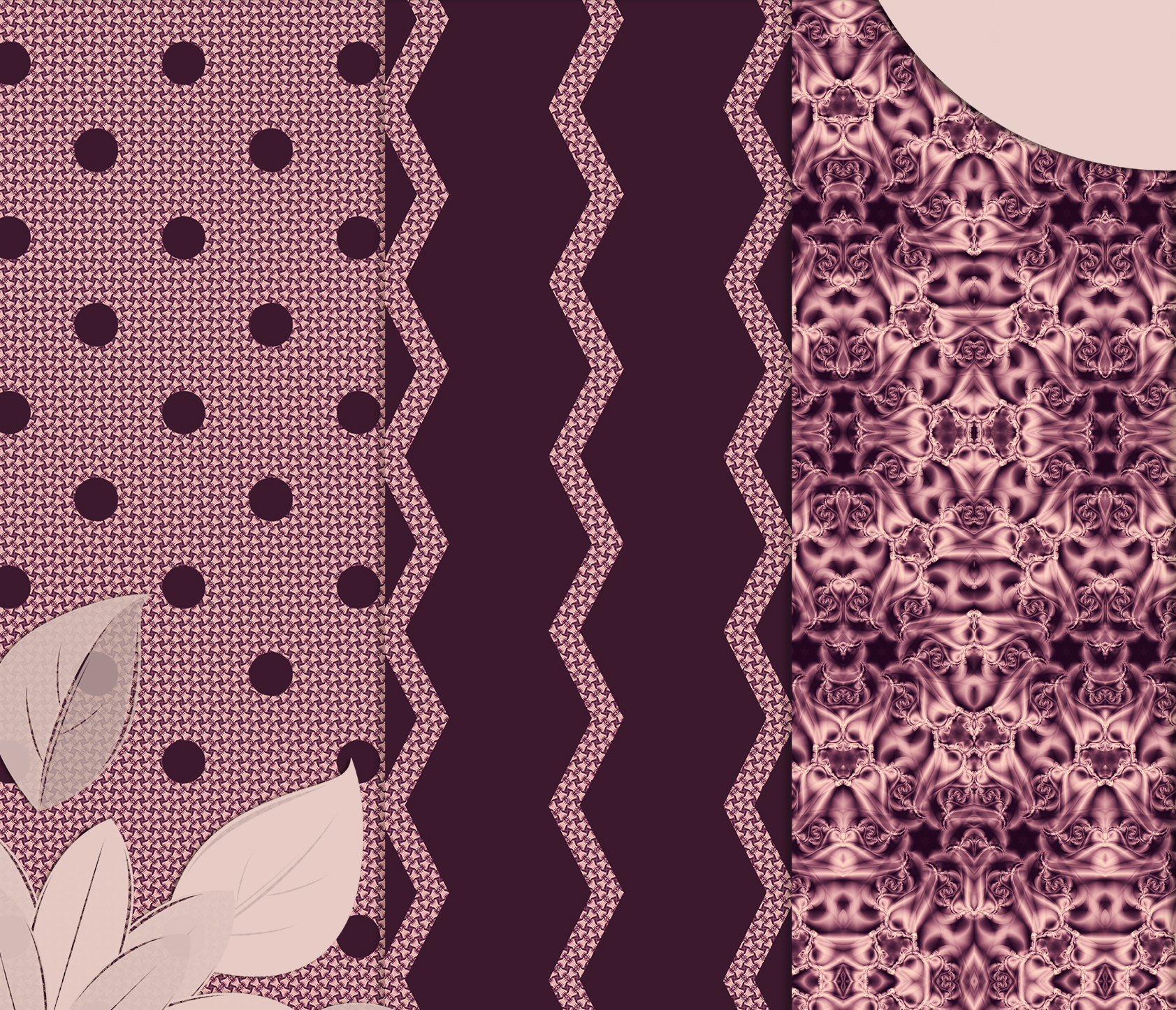 Burgundy abstract Scrapbook Paper example image 3