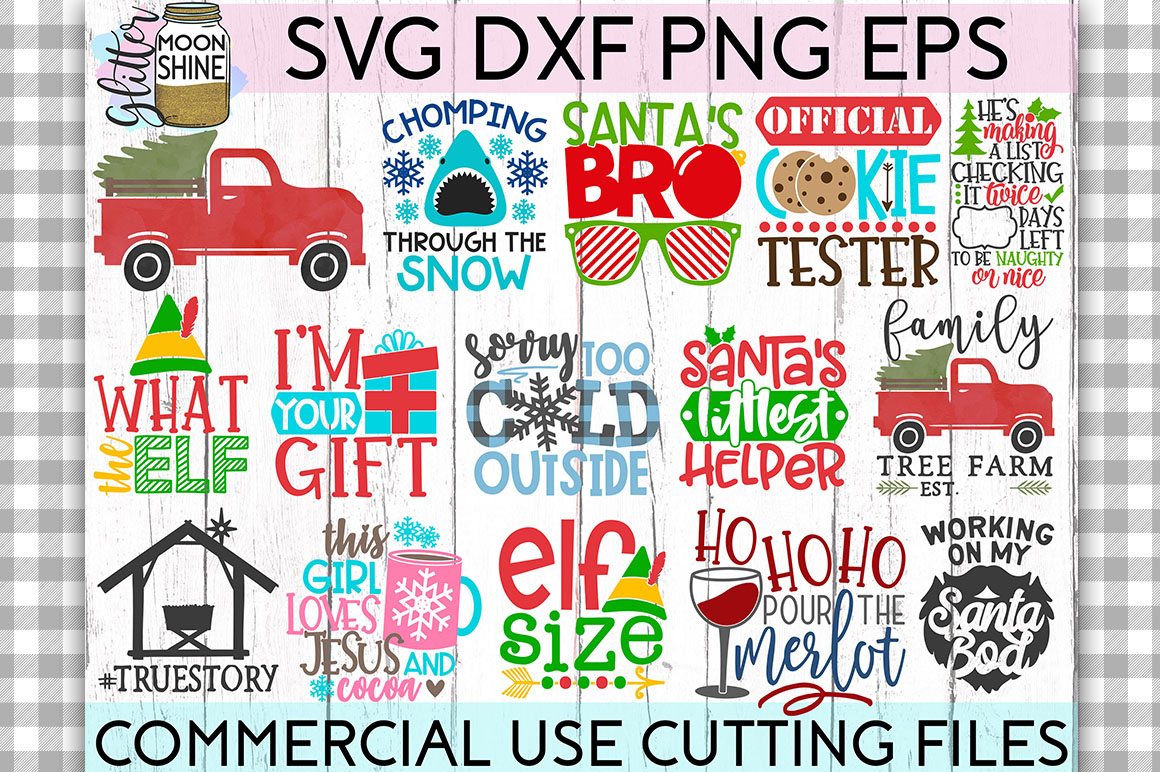 Giant Christmas Bundle of 58 SVG DXF PNG EPS Cutting Files example image 2