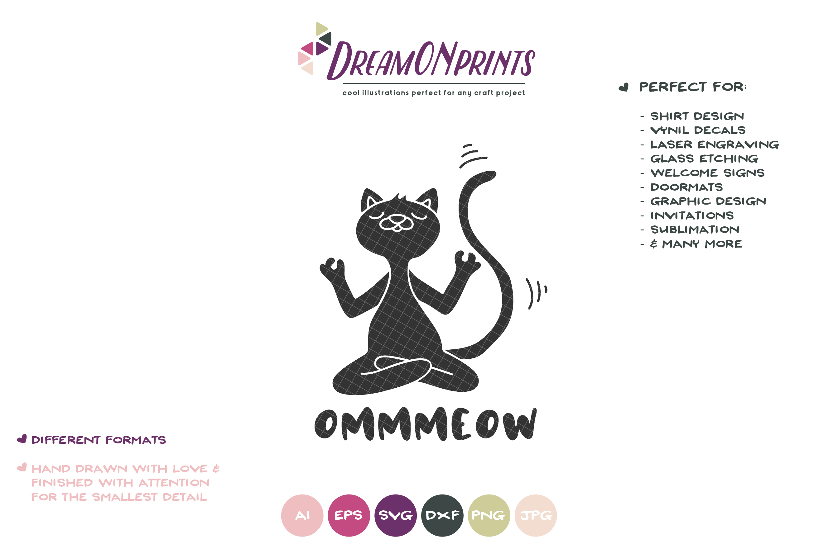 Yoga Cat SVG | Meditating Cat SVG Cut Files example image 2
