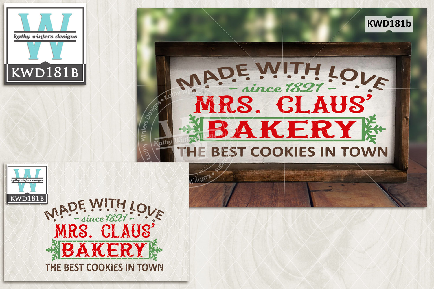Christmas SVG - Mrs. Claus Bakery KWD181B example image 2