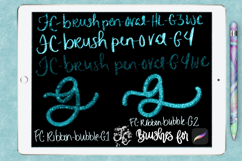 FC-glitter set 1 brushes for PROCREATE example image 7