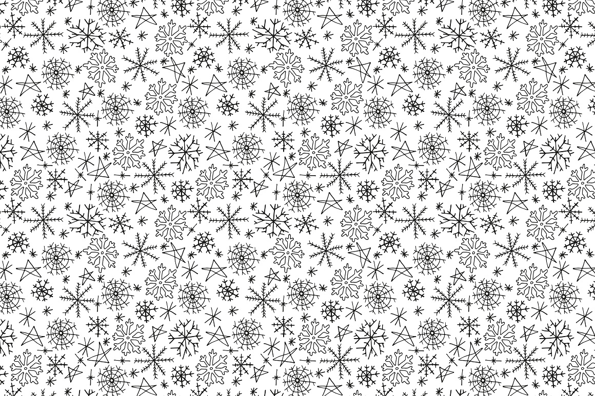 New Year seamless patterns example image 7