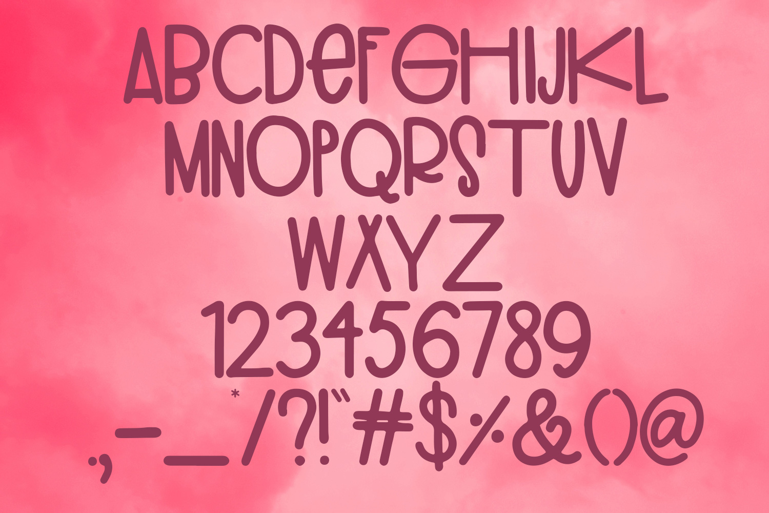 Inflatable Flamingo Font example 5