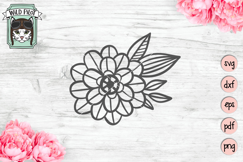 Flowers SVG file, Floral cut file, Flower Accent, Bundle example image 3