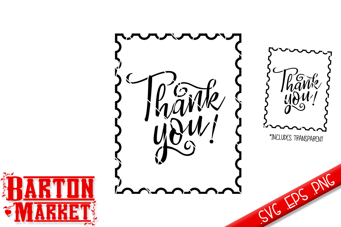 mailbox thank you stamp svg eps png design bundles