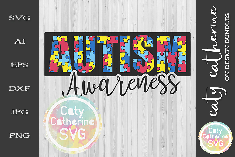 Autism Awareness SVG Jigsaw Puzzle Autism Awareness Cut File example image 2