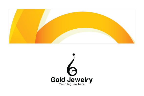 Gold Jewellery - Abstract Iconic Human Figure Stock Logo example image 3
