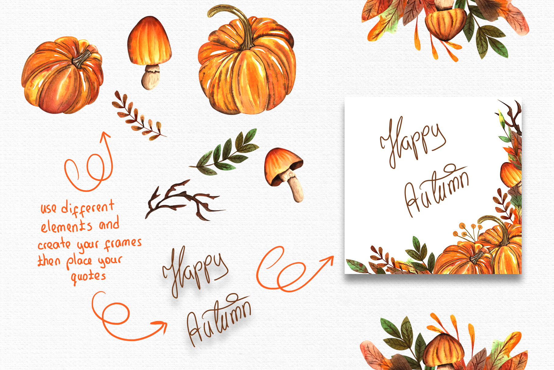 Watercolor Autumn Collection example image 6