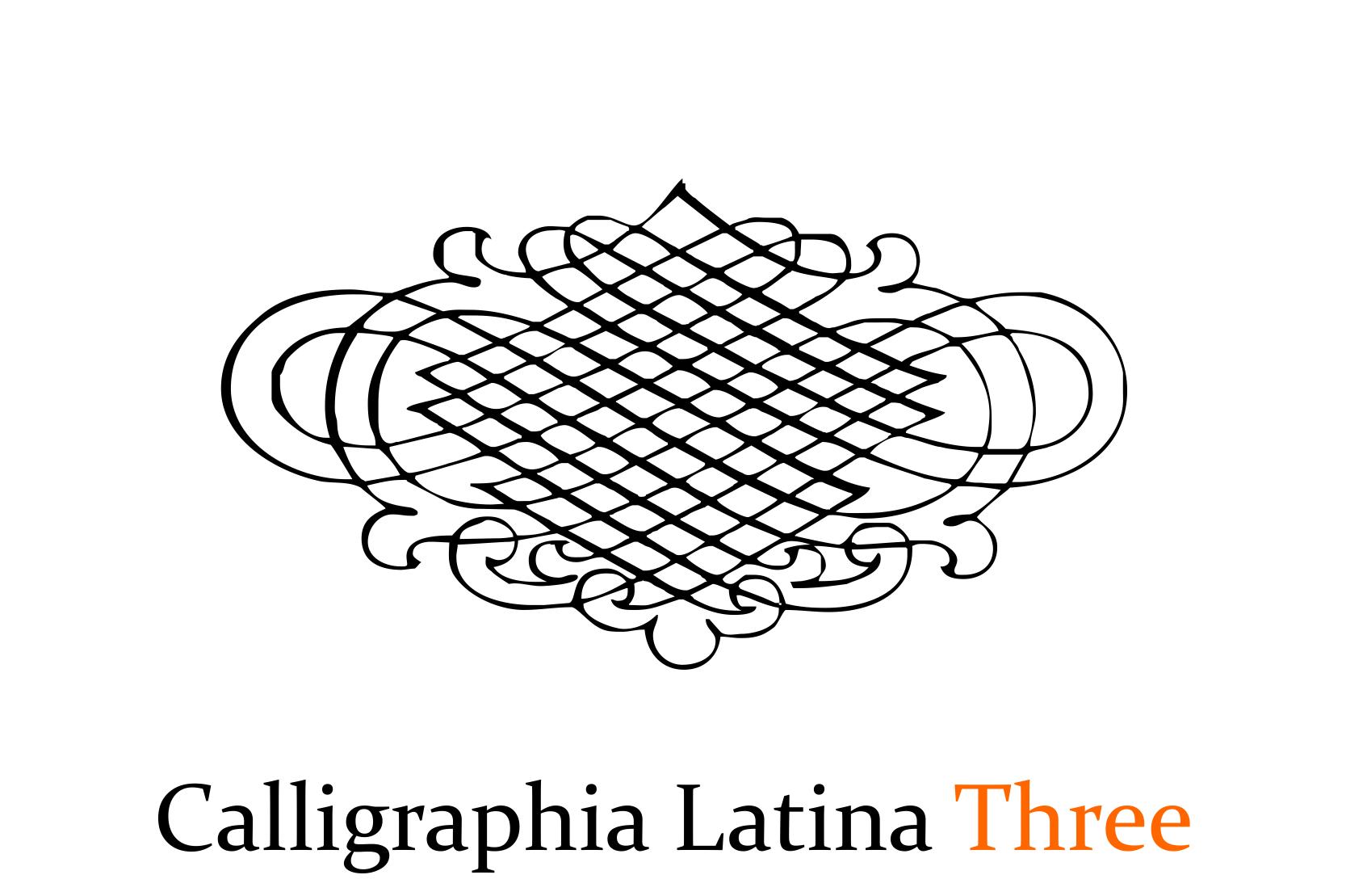 Calligraphia Latina Three example image 1